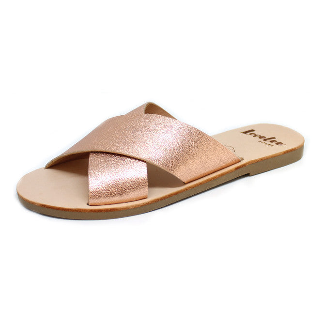 LOVELEE CROSSOVER SLIDE - ROSE GOLD