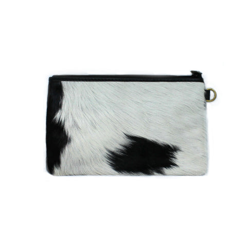 LUXE BLACK CALF HAIR SMALL CLUTCH