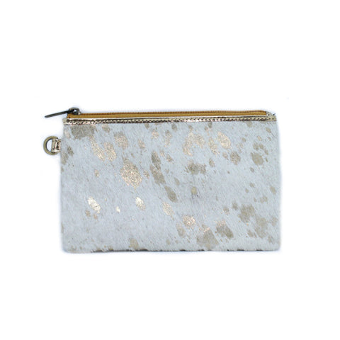 White gold small clutch