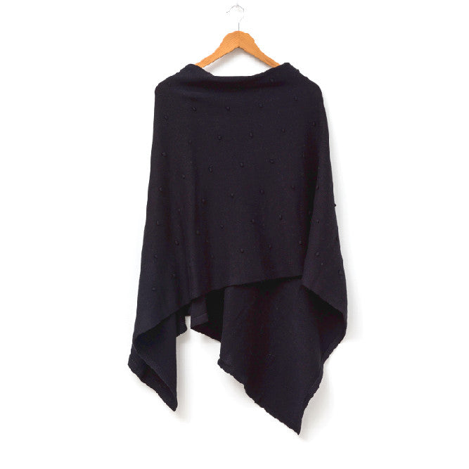 BLACK BUBBLE PONCHO