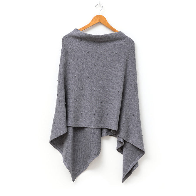 Grey Bubble Poncho | Stella + Gemma