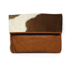 LUXE TAN FOLD OVER BAG
