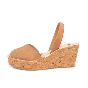 Tan Cork Wedge | Lovelee Soles