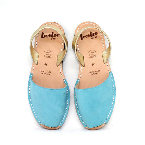 LOVELEE TEAL & GOLD - SIZE 36