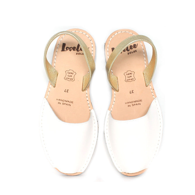 White & Gold | Lovelee Soles