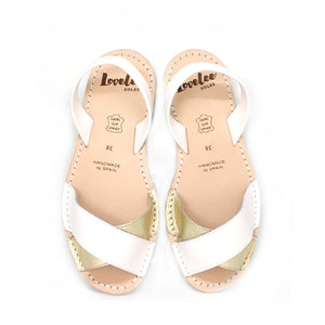 White & Gold Crossover | Lovelee Soles