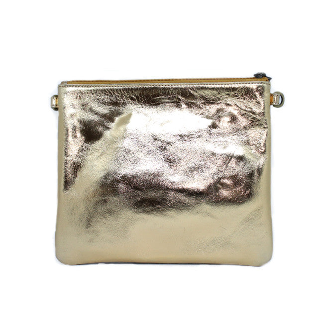 White Gold large Clutch