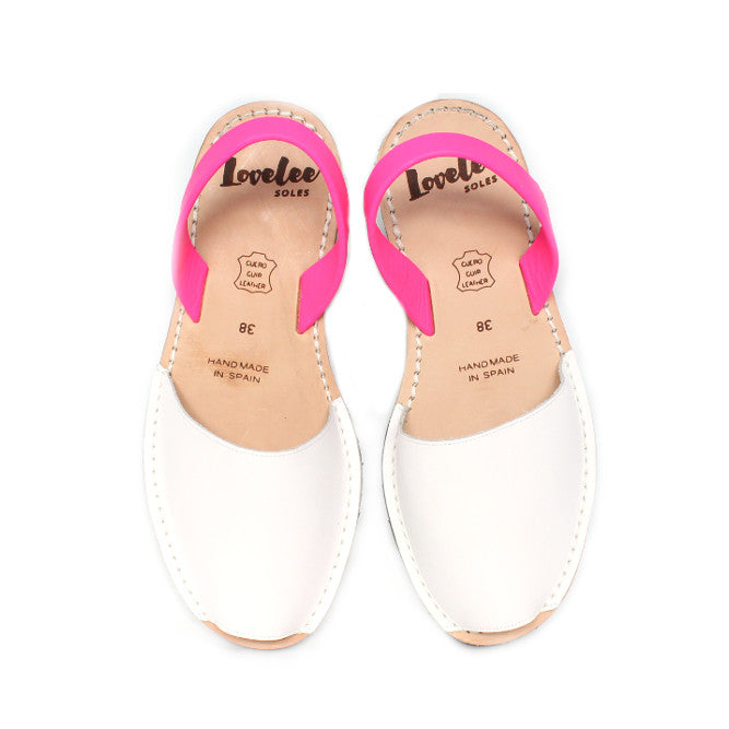 WHITE & NEON PINK - SIZE 37 & 40