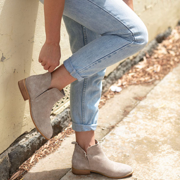 Taupe Douglas Boots | Lovelee Soles