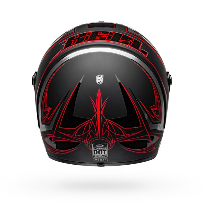 Bell Eliminator Helmet Hart Luck Red