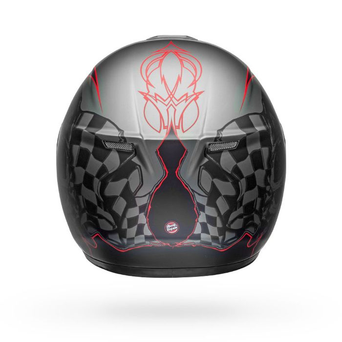 Bell SRT Helmet - Hart Luck GLOSS-MATTE CHARCOAL-WHITE-RED SKULL