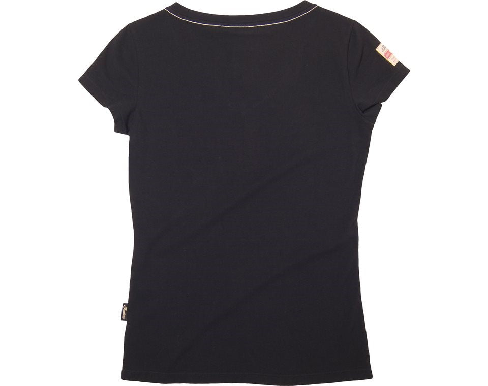Indian Womens Script Tee - Black