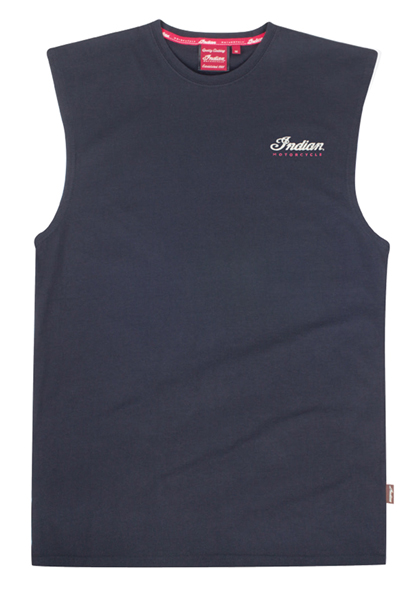 Indian Sleeveless Script Logo Tank - Black