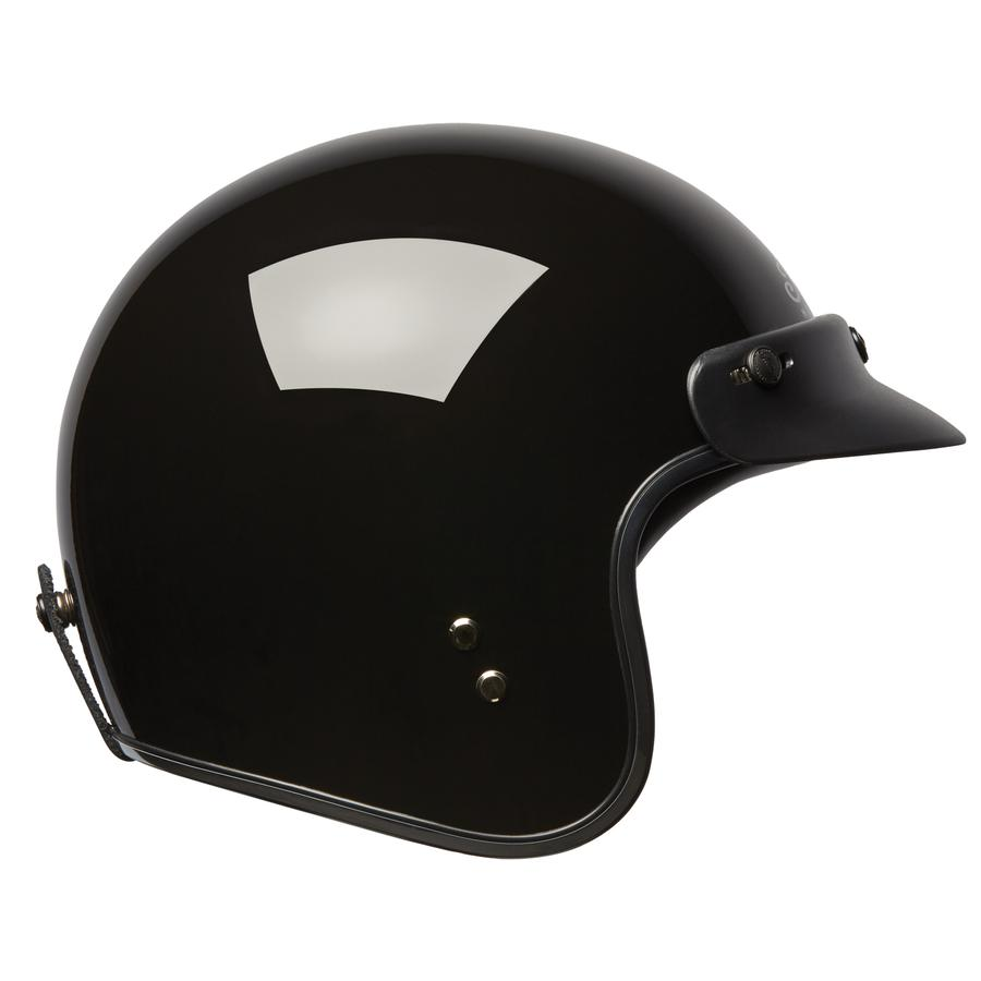 Indian Retro Open Face Helmet - Gloss Black