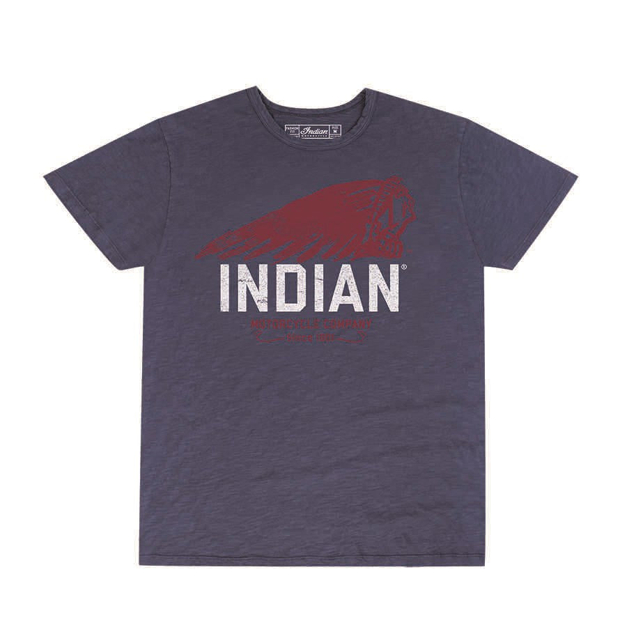 Indian Hand Painted Tee - Navy