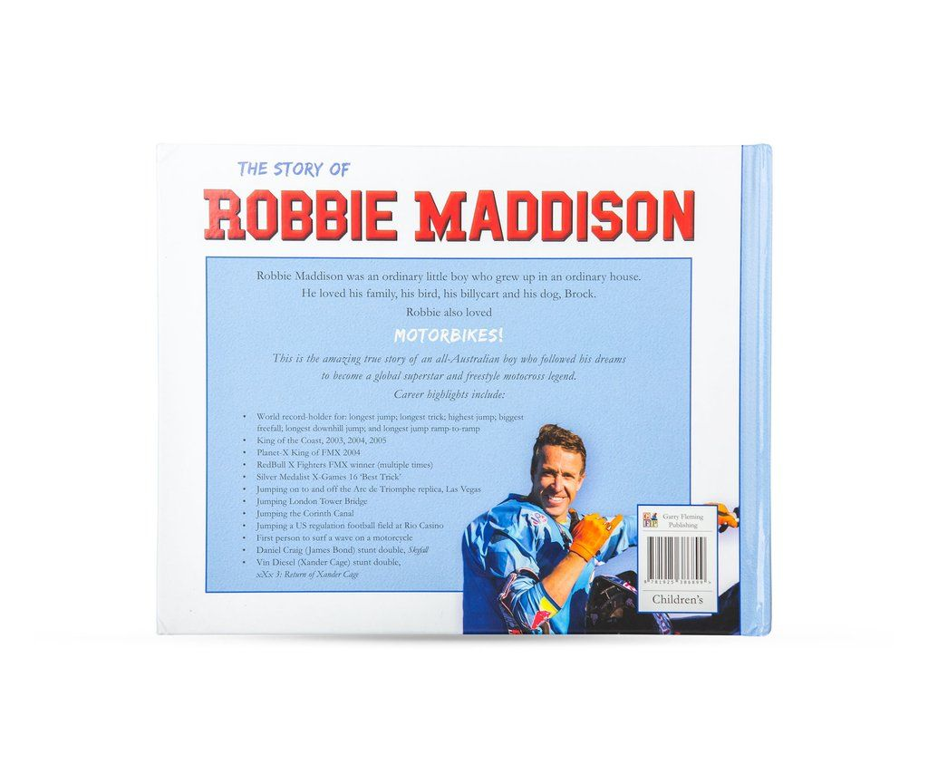 The Story of Robbie Maddison Children's Book
