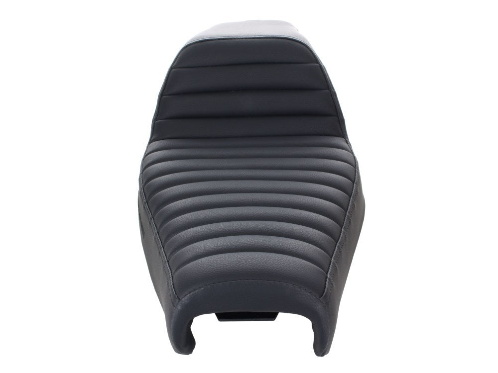 Sportster - Step-Up Tuck & Roll Dual Seat. Fits Sportster 2004up with 3.3 Gallon Fuel Tank.