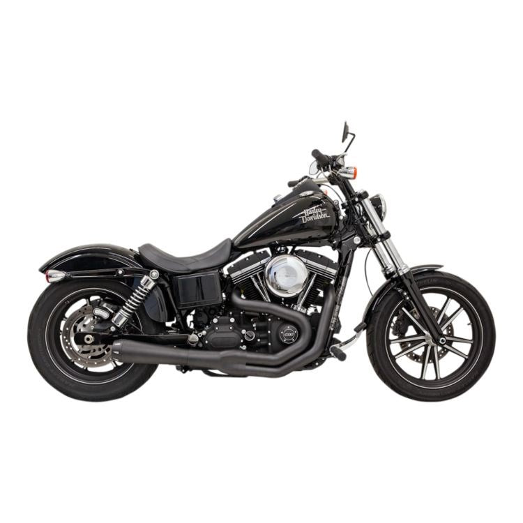 Bassani Road Rage II 2-Into-1 Exhaust For Harley Dyna With Tall Shocks 1991-2017 - Black