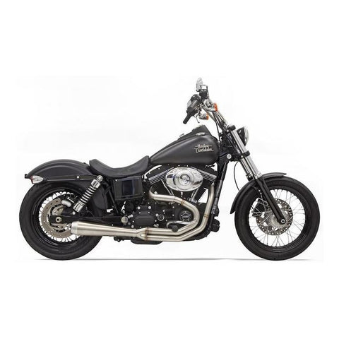 Bassani Road Rage III 2-Into-1 Exhaust - 1991-2017 Harley Dyna - Stainless Steel