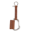Leather Carabiner Key Lanyard - Brown