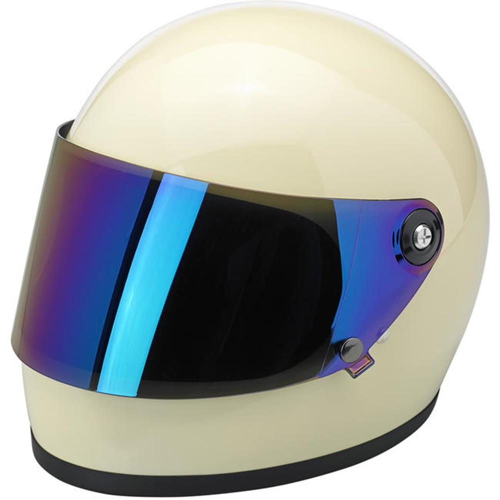 Biltwell Gringo S Flat Shield - Rainbow Mirror