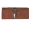 Leather Tucker Wallet Brown