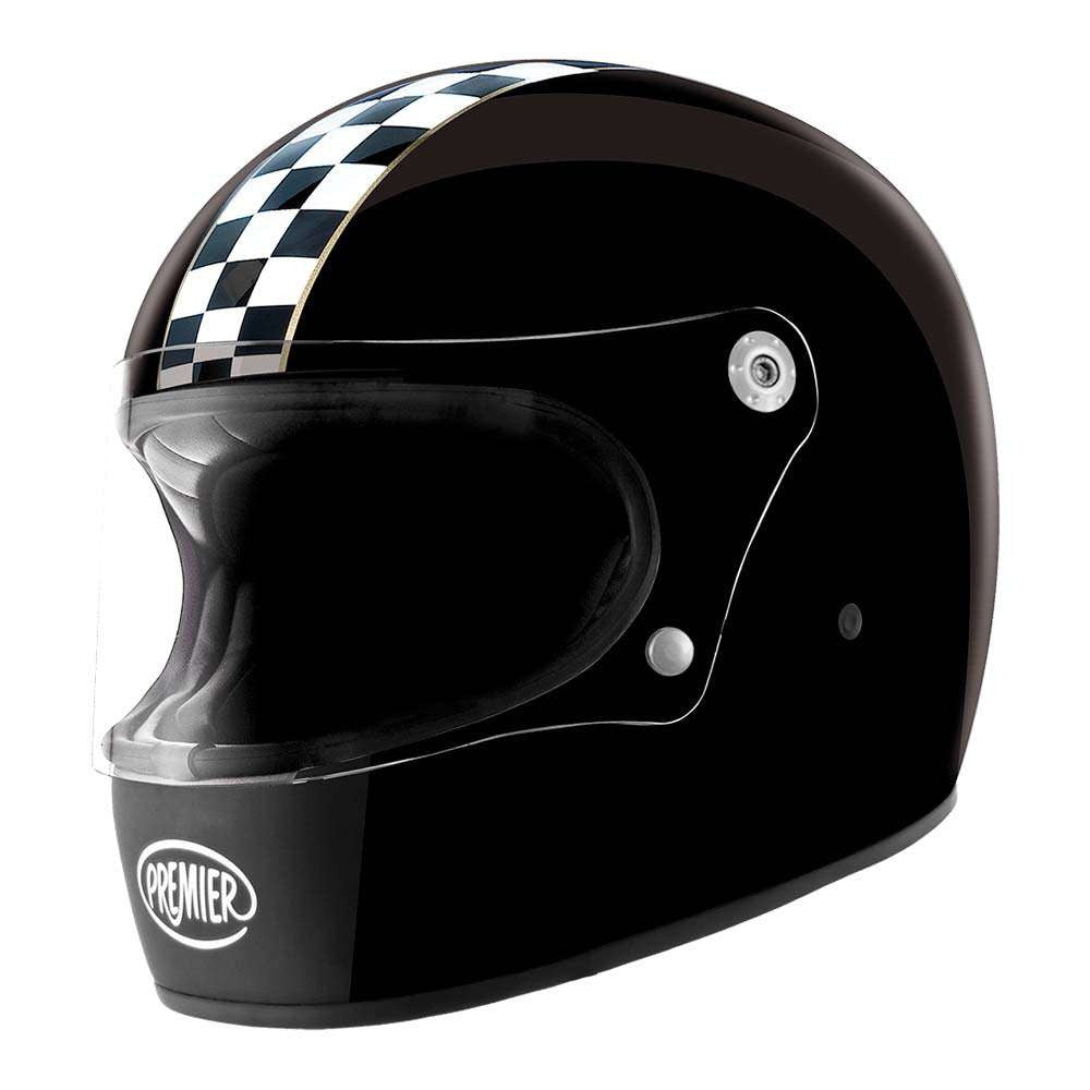 Premier Trophy Helmet - Retro Black