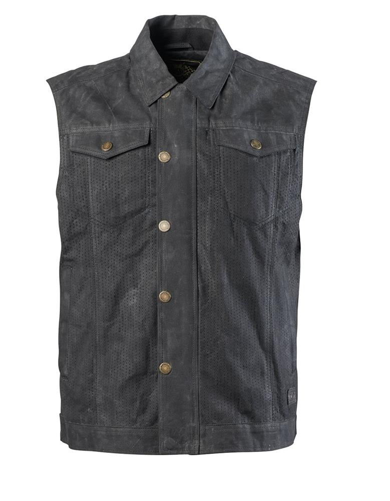 Roland Sands Ramone Perforated Vest - Black