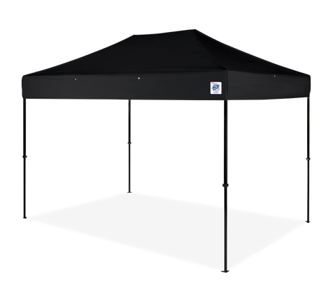 E-Z UP Speed Shelter® II, Black steel with Black Canopy