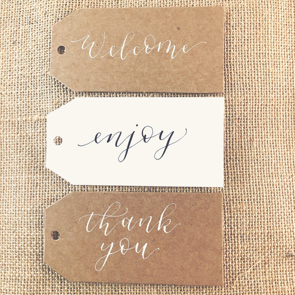 Handwritten Calligraphy Gift Tag Add-on
