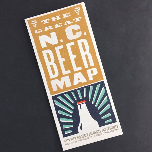 The Great North Carolina Beer Map Gift Box