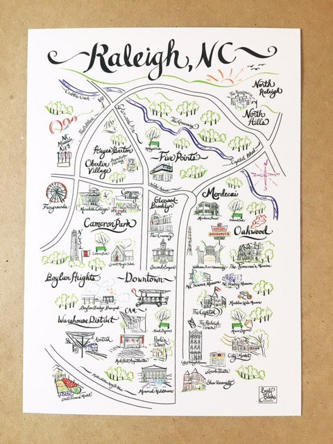 Raleigh Map Print         Add-On