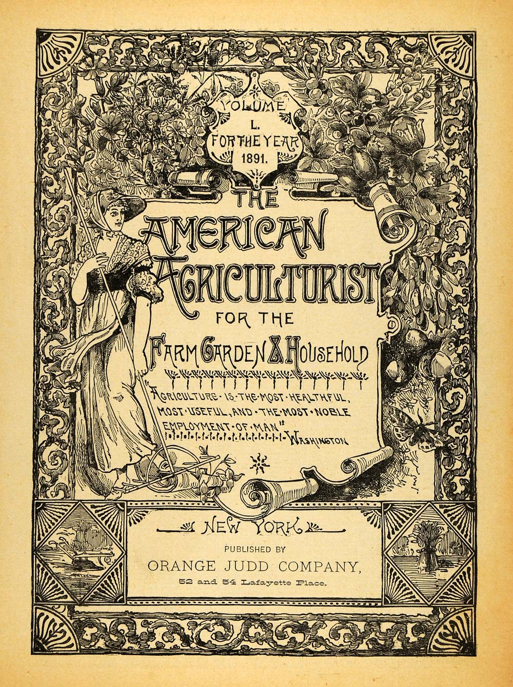 1891 Cover American Agriculturist Orange Judd Farming Agricultural AAG1