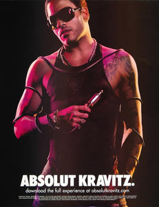 2006 Ad Absolut Kravitz Vodka Jean Baptiste Mondino - ORIGINAL ADVERTISING ABS2