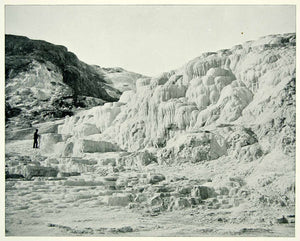 1894 Print Minerva Terrace Yellowstone National Park Mammoth Hot Springs AC1