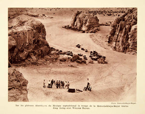 1932 Photolithograph Easy Going Mexico Desert Location Crew MGM Film Niblo AEC1