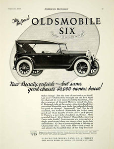 1924 Ad Oldsmobile Six Olds Motor Works Lansing Michigan Car Automobile AM2