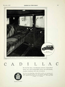 1924 Ad Cadillac Automobile Vehicle Luxury General Motors Interior Fisher AM2