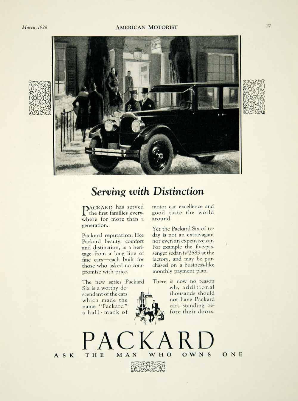 Packard Period Paper Wiring Diagrams Of 1958 Studebaker And Golden Hawk 1926 Ad Art Deco Road Car Motor Company Six Drive Automobile Am2