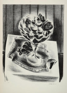 1939 Yasuo Kuniyoshi Grapes in a Bowl Still Life Print ORIGINAL HISTORIC AMER