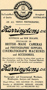 1918 Ad Harringtons Camera Sydney Australia New Zealand Cinematograph AMP1
