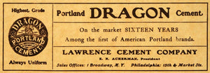 1905 Ad Portland Dragon Lawrence Cement E. R. Ackerman Construction ARC3