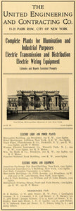 1902 Ad United Engineering Contracting Metropolitan Museum New York ARC3
