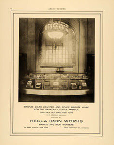 1915 Ad Hecla Iron Works Bankers Club America Equitable E.R. Graham ARC3
