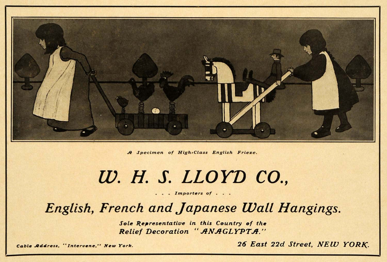 1906 Ad W. H. S. Lloyd Japanese English Wall Hanging Coverings ...