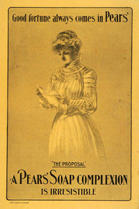 1903 Ad Pears Soap Toiletry Complexion Skin Care Bath Edwardian Fashion ARG1