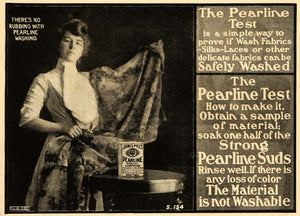 1904 Ad James Pyles Pearline Washing Detergent Delicate Silk Lace Laundry ARG1