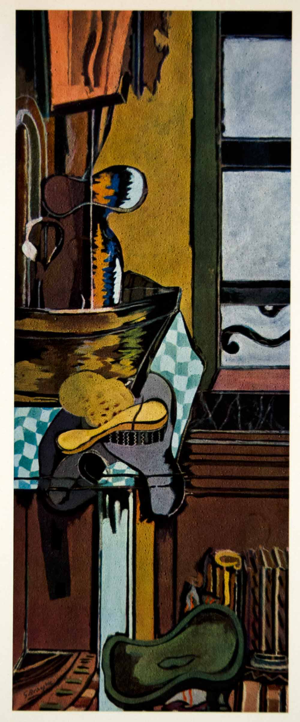 1961 Georges Braque Washstand Table Modern Art Print - ORIGINAL