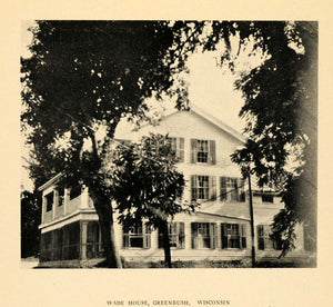 1926 Wade House Greenbush Wis. Stagecoach Inn Print - ORIGINAL HISTORIC AT1