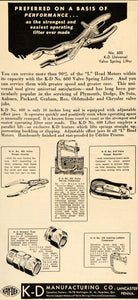 1935 Ad Valve Spring Lifter Compressor Kay-Dee Tools - ORIGINAL ADVERTISING ATJ1